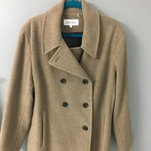 Calvin Klein Camel Pea Coat